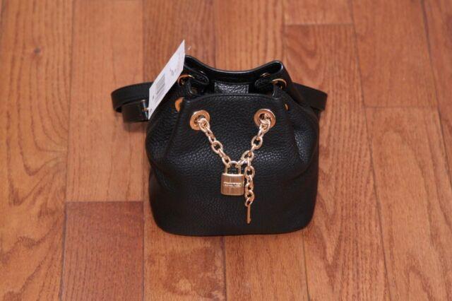 b5e41bde056be2 NWT Michael Kors Hadley Medium Messenger Crossbody Handbag Purse Black