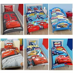 DISNEY CARS DUVET COVERS   SINGLE, DOUBLE & JUNIOR BEDDING