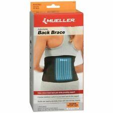 Black Mueller Adjustable Back Brace Lumbar Support Lifting Belt 1 Ea One Size