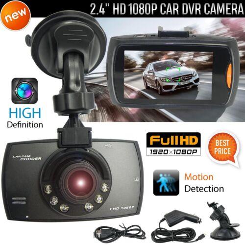 """2.4/"""" coche DVR 1080P HD Cámara en Tablero ángulo amplio cámara de visión nocturna LCD Sensor G Reino Unido"""