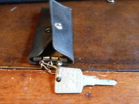 Vintage Datsun Nissan Key 3042 With Key Case