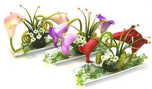 Neu Calla Mit Schale Kunstpflanze Zierpflanze Dekopflanze Hochzeit