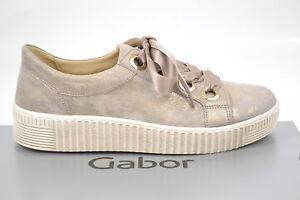 Details Fs18 Damenschuhe Zu Gabor Comfort Muschel Metallic Sneaker Schuhe Neu c4RLq35AjS