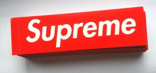 100/% AUTHENTIC Sup preme Red box logo Sticker