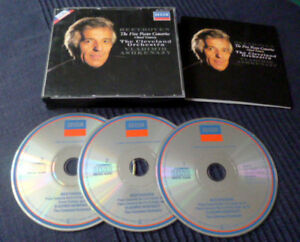 3xCD Beethoven Vladimir Ashkenazy The Five Piano Concertos Cleveland Orch DECCA