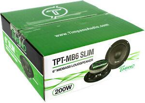 Pair-Timpano-TPT-MB6SLIM-6-034-Mid-Range-Loud-Speakers-Car-or-Pro-Audio-400W-4-Ohm