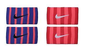 New Nike Tennis Stripes DoubleWide Wristbands Federer Rafa Wristband Premier