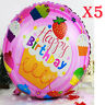 5pcs round birthday children party decoration helium aluminum Foil balloon
