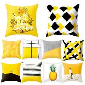Fashion-Geometric-Cushion-Mustard-Yellow-and-Black-Home-Decor-Sofa-Case-Cover-UK