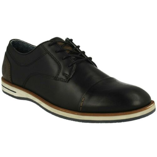 Men/'s B52 by Bull Boxer RALSTON 821-X2-7546B Black Lace-up Casual Dress Shoes