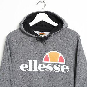 Vintage-ELLESSE-Big-Logo-Hoodie-Sweatshirt-Grey-Small-S