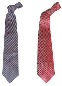 MENS-Premium-Classic-100-Silk-Tie-Red-amp-Purple-Patterned-3-5-034-W-58-034-L