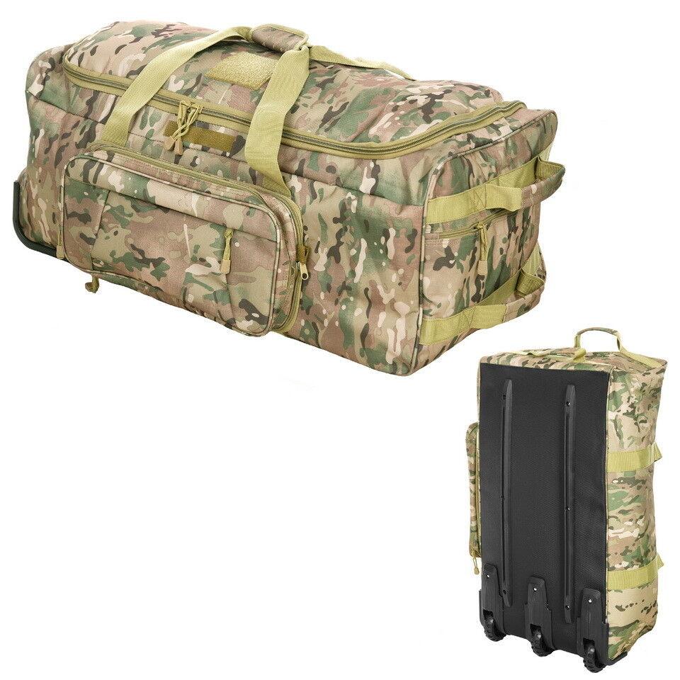 Multi Camo Hell Hell Hell Trolley Commando Tasche Tactical Outdoor Wandern Jagen Camping 9492d9