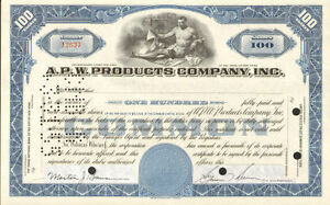 A-P-W-PRODUCTS-gt-Allied-paper-stock-certificate-share
