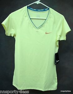 621cd51403eef7 Nike Pro 458663 Women s Fitted V-neck II Tank Short Sleeve Top ...