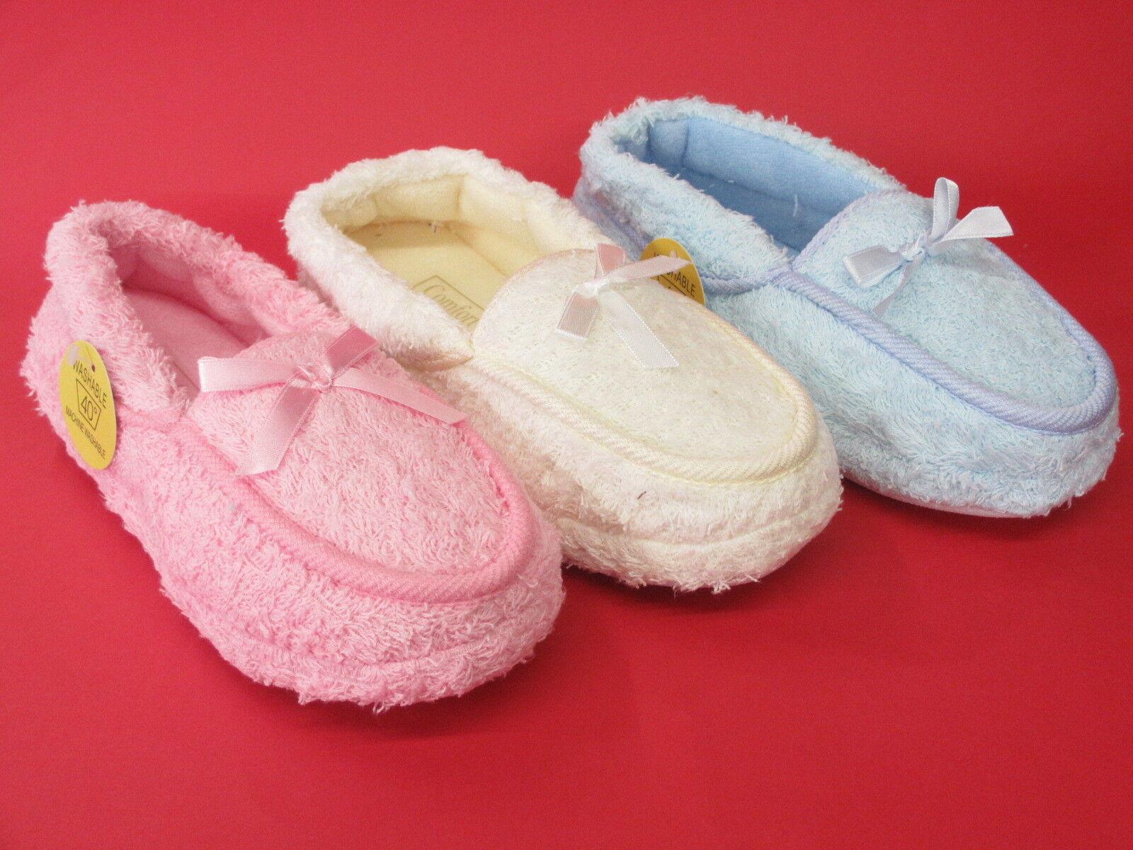femmes Comfort tissu éponge à matière COMPLET Chaussons facile à éponge enfiler 538c19