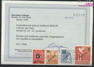 Berlin-West-64-67-kompl-Ausg-geprueft-postfrisch-1949-Gruenaufdru-9223638