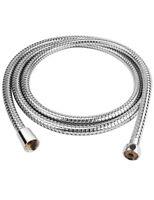 1.5m Flexible Stainless Steel Chrome Standard Shower Head Bathroom Hose Pipe UK