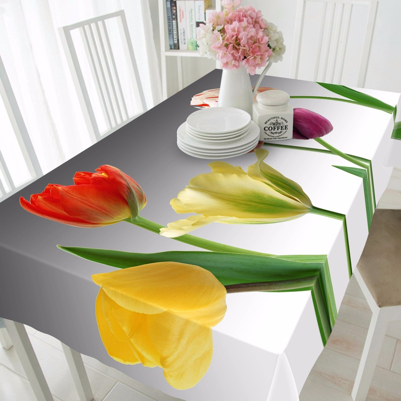 3D Tulip 4279 Tablecloth Table Cover Cloth Birthday Party Event AJ WALLPAPER AU