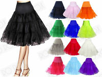 1950s Rockabilly Under Skirt Long Petticoat Retro Vintage Style Pinup Swing 26