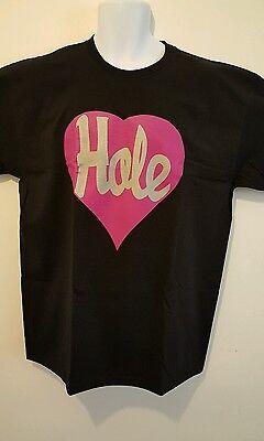 Hole/Courtney Love/ 'Heart' Mens  T-shirt  Black/Pink  S, M, L, XL, XXL