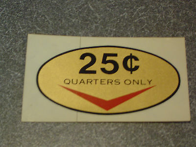 Redemption New Original Looking Larger Skee Ball Arcade 25 Cent Decal Sticker