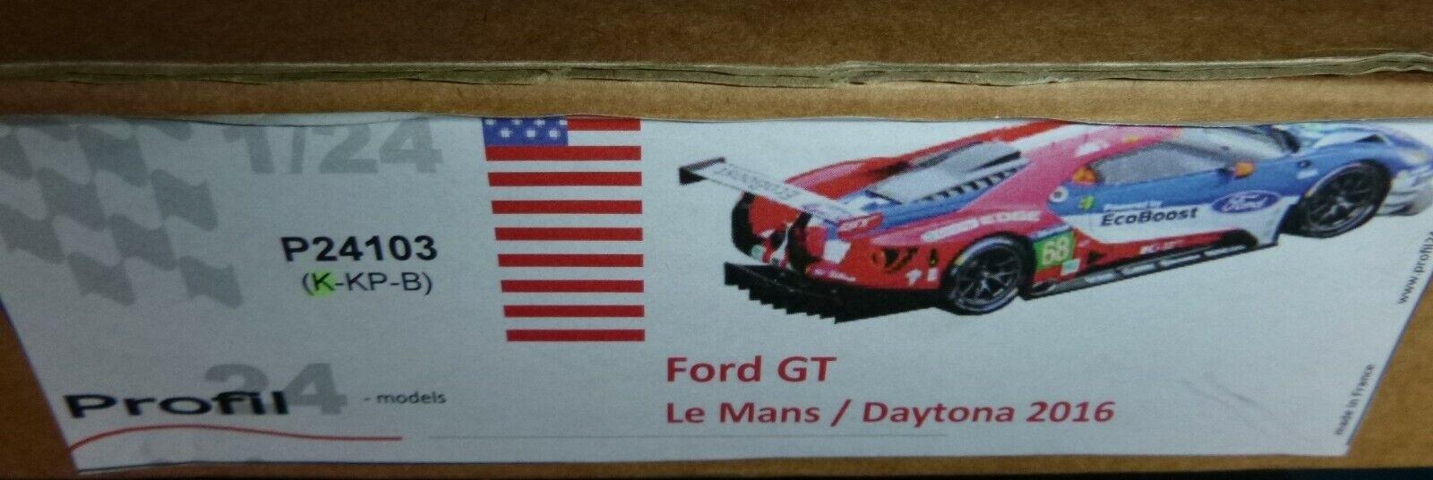 Profil 24 P24103 Ford Gt le Uomo Daytona 2016 Resina Kit 1 24 Vettura Mountain