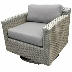 Fine Details About Tkc Florence Patio Wicker Swivel Chair Caraccident5 Cool Chair Designs And Ideas Caraccident5Info