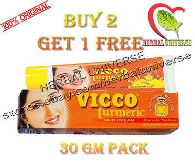 Vicco Turmeric Skin Cream Fairness | Scars | Acne | Pimples | Buy 2 Get 1 Free