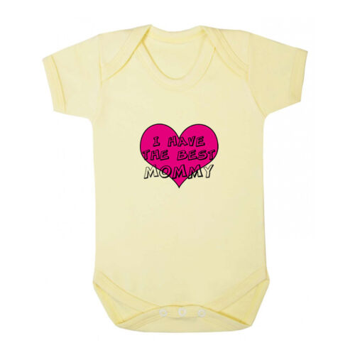 Pink Heart I Have The Best Mommy Infant Toddler Baby Cotton Bodysuit One Piece