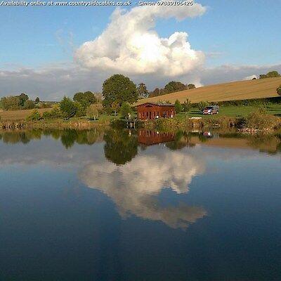 Secluded Romantic Log Cabin Carp Fishing Lake Short Break Holiday Glamping Ebay