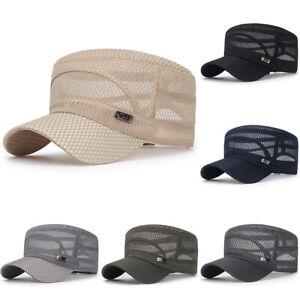 Trucker-Hat-Mesh-Baseball-Snapback-Cap-Adjustable-Flat-Visor-Plain-Hip-Hop-Mens