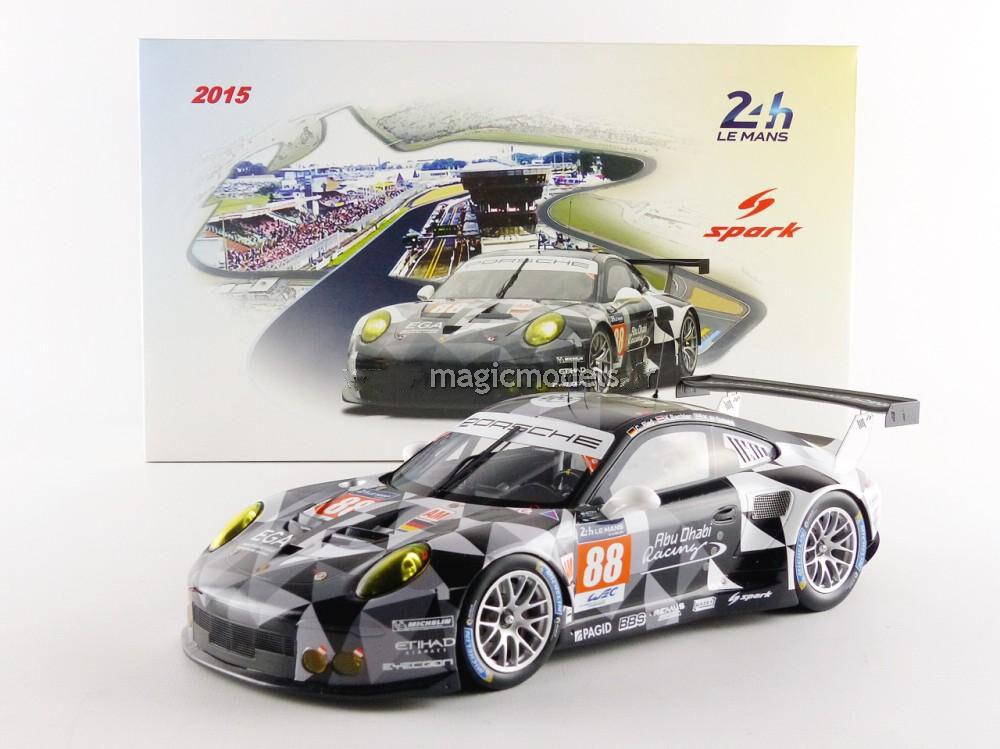 Spark Porsche 911 991 GT3 RSR 24h Le Mans 2015 Abu Dhabi   18 Scale New