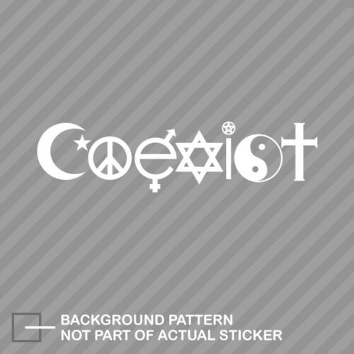 Coexist Sticker Decal Vinyl peace evolution harmony yin yang