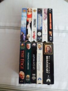 VHS Pre-Owned Tapes Lot Junk Drawer Lot of 11 Forrest Gump ~ Coyote Ugly More