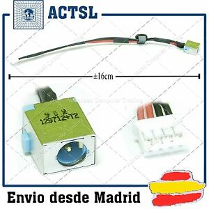 CONECTOR con cable DC JACK Socket PACKARD BELL EASYNOTE P5WS0- cLCuXhk1-09103912-676398074
