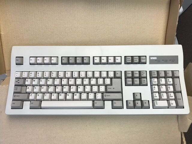 Clean Vintage Dec Digital Pc7xl,aa Ps2 Ps/2 Mechanical PC Computer Keyboard