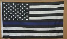 THIN BLUE LINE 3'x5' FLAG POLICE LIVES MATTER LAW ENFORCEMENT SUPPORT BANNER