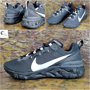 "Nike réagissent Element 55 se ""Noir reflètent"" homme baskets, UK 6 EUR 40 BV1507 002"
