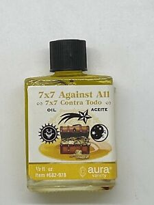 7 X 7 Against All Spell Oil For Hoodoo, Witchcraft, Spiritual Work