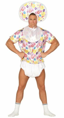 Mens Adult Baby Stag Party Funny Joke Fancy Dress Costume Adults Outfit