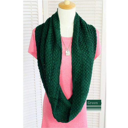 Ladies Fashion Knitted Snood Warm Winter Womens Wool Scarf