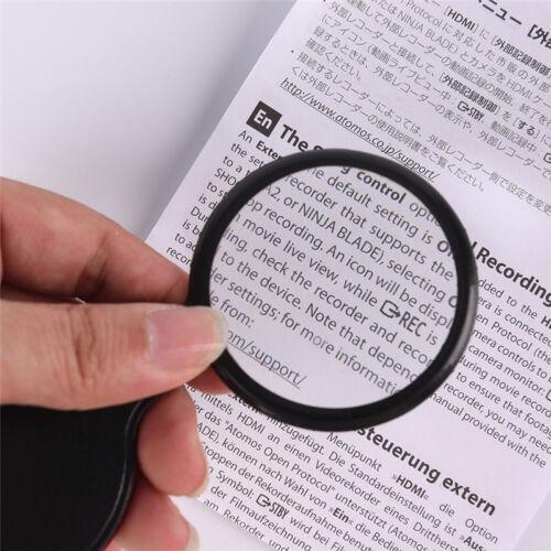 Folding 10X Mini Pocket Schmuck Lupe Vergrößerungsglas Lupe Objektiv Fa CRH