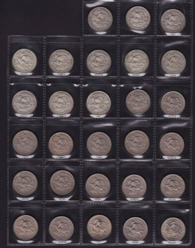 New Zealand Shilling Coin Set all dates from 1933 to 1965 28 Coins