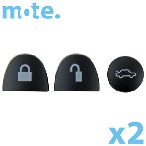 2-x-Holden-Commodore-3-Black-Buttons-Set-Car-Remote-Key-VS-VT-VX-VY-VZ-WH-WK-WL