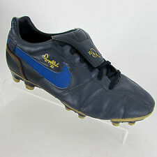 NIKE RONALDINHO 10R FOOTBALL BOOTS Size 5 EU 38 BLUE LEATHER FG RARE