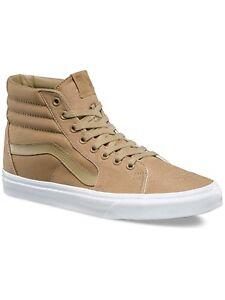 2cad176fa5 New Vans Unisex Sk8-Hi MONO CANVAS KHAKI TRUE WHITE Skate Shoes Mens ...
