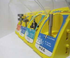 Triplex-Fresa-HSS-per-legno-Decorazione-Pantografo-gambo-6mm-fresatrice-nuovo