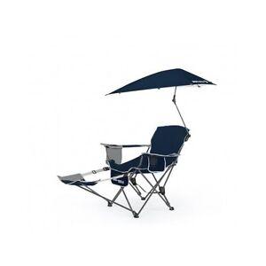 Folding Recliner Chair Beach Lounge Outdoor Portable