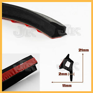 P-Shape-1M-Car-Door-Trunk-Seal-Strip-Rubber-Edge-Trim-Noise-Sound-Dust-Proof